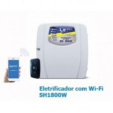 Eletrificador de cerca elétrica  e Alarme SH1800W com Wifi Líder